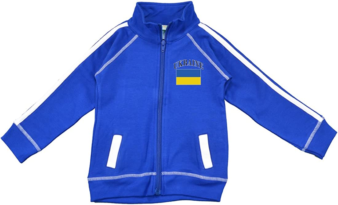 PAM GM Little Boys wholesale Ukraine Soccer Jacket Track 55% OFF 24 Blue Months