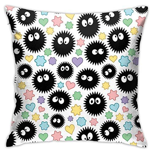 MZZhuBao Soot Sprites & Caramelos ropa de cama de 45,7 x 45,7 cm almohadas decorativas para interiores
