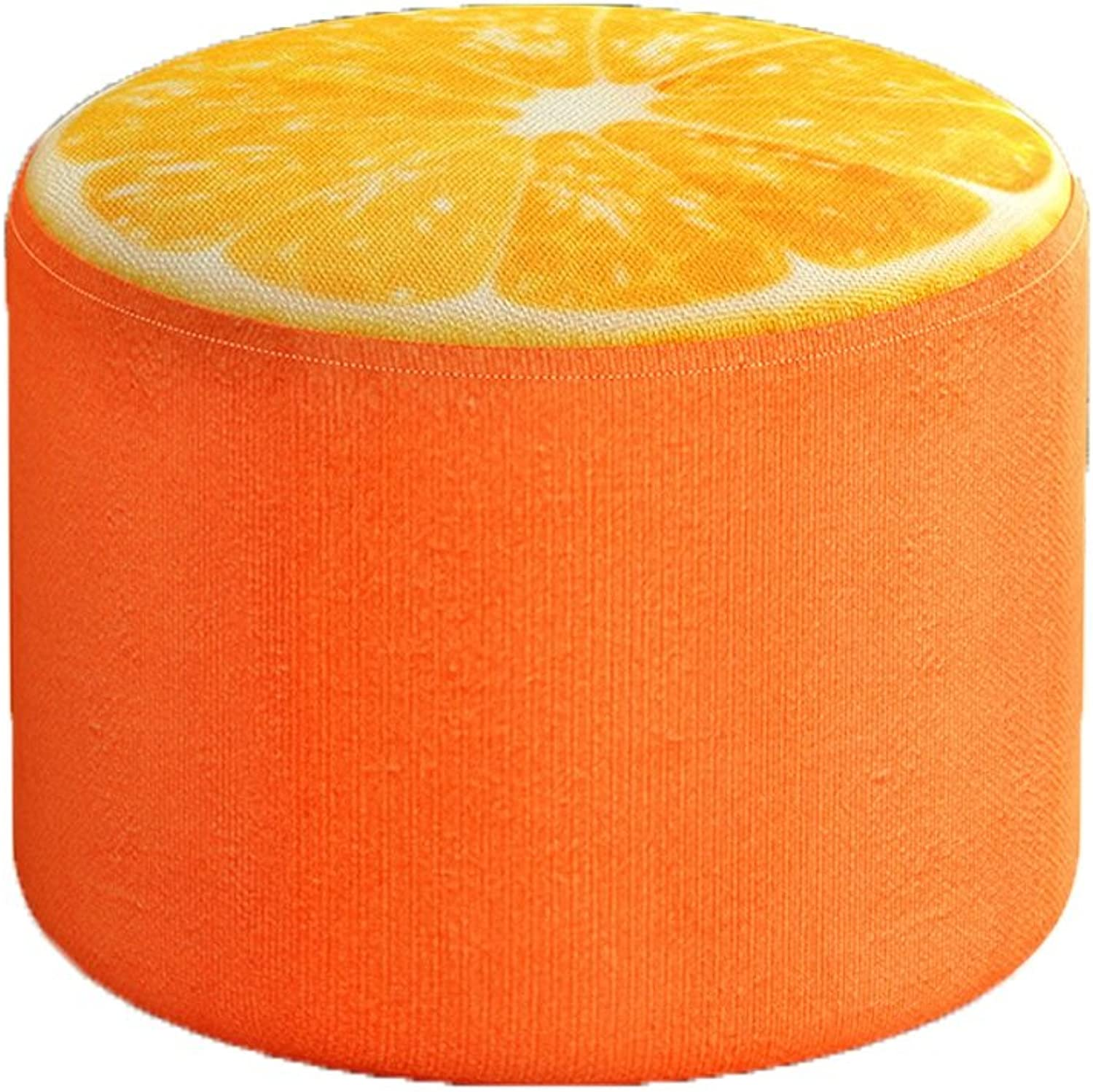 LIUXUEPING Small Stool Home Fruit Stool to Change shoes Stool Small Bench Sofa Stool Solid Wood Stool Creative Fabric Stool (color   B)