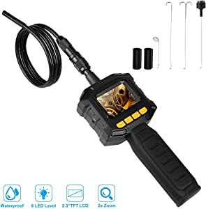 Dericam Borescope Inspection Camera Endoscope Camera with 8mm Camera IP67 Waterproof for Use Home Pipe  Car  Air Vent  Wall Inspection Other Hard-to-Reach Places  IC01