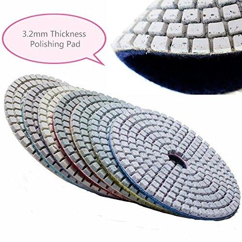 b/éton Granit 10,2 cm Create Idea Lot de 20 tampons de Polissage diamant/és 11 /étapes pour Pierre