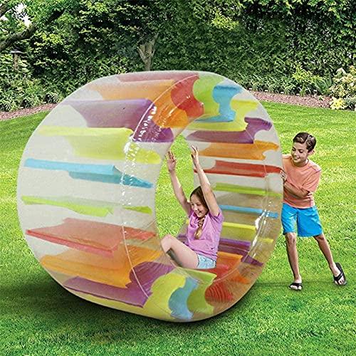 HYTGF Rad Kinder, Pool Wasser-Laufrad Aufblasbares Kullerrad Für Kinder, Zorb Ball, Aufblasbares Lauf-Rad, Walzenrad Zum Aufblasen,001