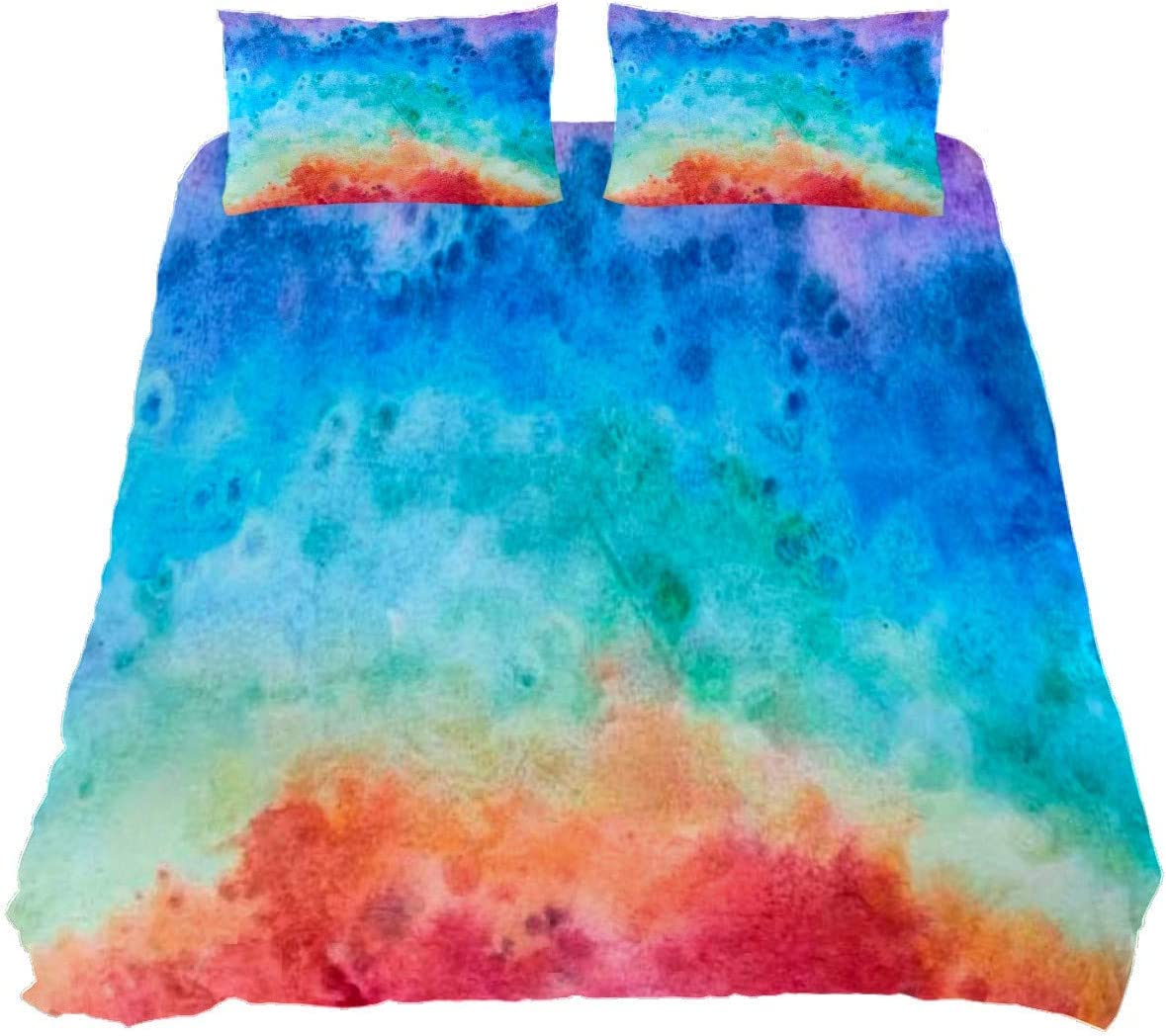 Rainbow Fresno Mall 67% OFF of fixed price Tie Dye Duvet Cover Set Bedding Bedclothes Decorative 3