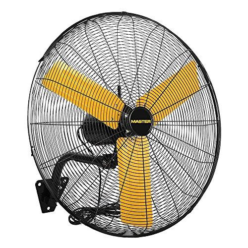 Master MAC-24WOSC High Velocity Oscillating Wall Fan, Black