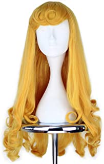 Girl Princess Party Hair Long Curly Golden Halloween Cosplay Costume Wig