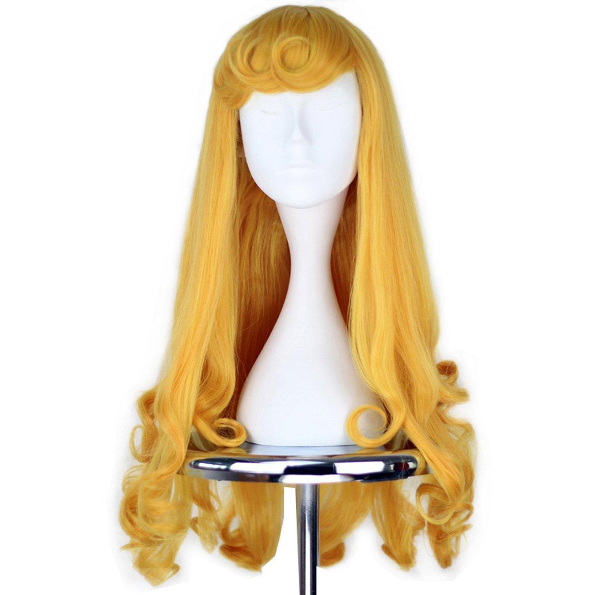Girl's Prestyled Japan Maker New Princess Wig Long C Curly Yellow Cosplay Golden Nashville-Davidson Mall