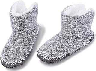 Zapatos de Punto Térmico Extra Cálido Antideslizante de Invierno para Mujer, Zapatillas Suaves, para Niñas