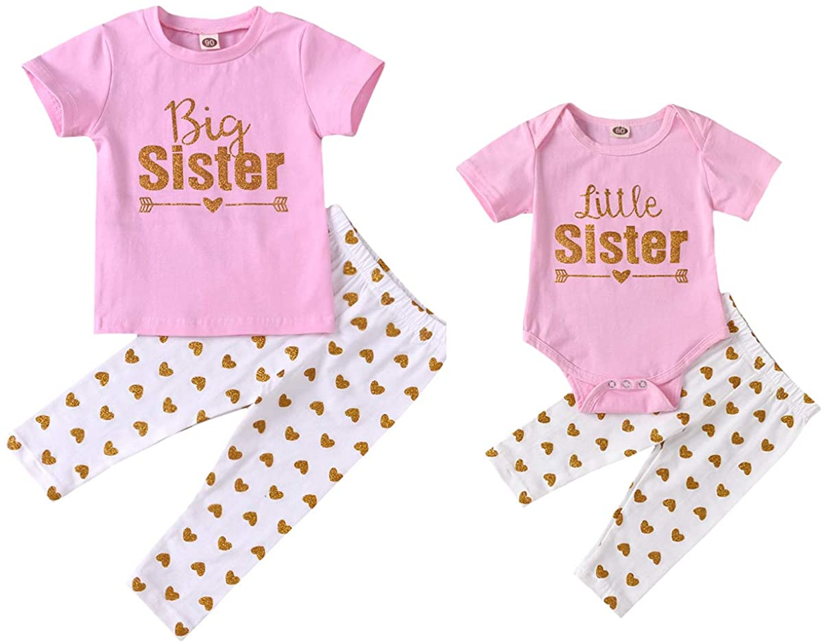 Big Max 64% OFF Sister Little Matching Outfits Kid Baby Girl Cash special price Bodysuit