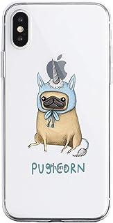 Oihxse Transparente Funda para iPhone 6 Plus/iPhone 6S Plus Ultrafina Silicona Suave TPU Carcasa Interesante Perro Patrón ...