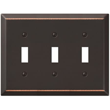 Four Toggle Switch Plate Outlet Cover Rocker Toggle Light Wall Plate Oil Rubbed Bronze
