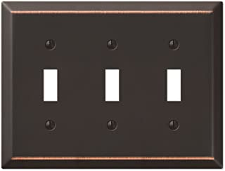 Amerelle Century Triple Toggle Steel Wallplate in Aged Bronze