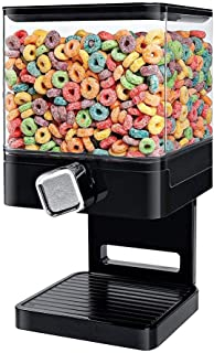 Chengstore Indispensable Dry Food Dispenser Snack Storage Tank,Single Control,Square Dry Food Cereal Dispenser, 3.7L