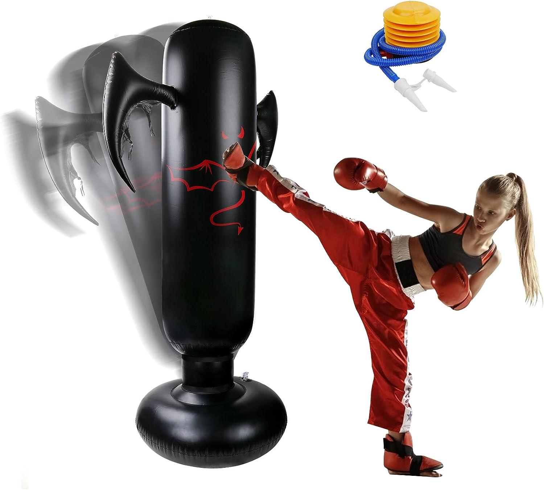 VAlinks Inflatable Kids Punching Bag, 63 inch Kids Boxing Bag wi