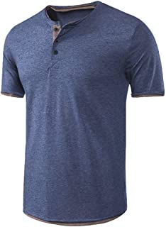 17 Mens T-Shirts Cotton Blend O-Neck Short Sleeve Tee Casual Slim Fit Basic Designed Cotton Shirts Solid Polo Blouse EAZsyn8