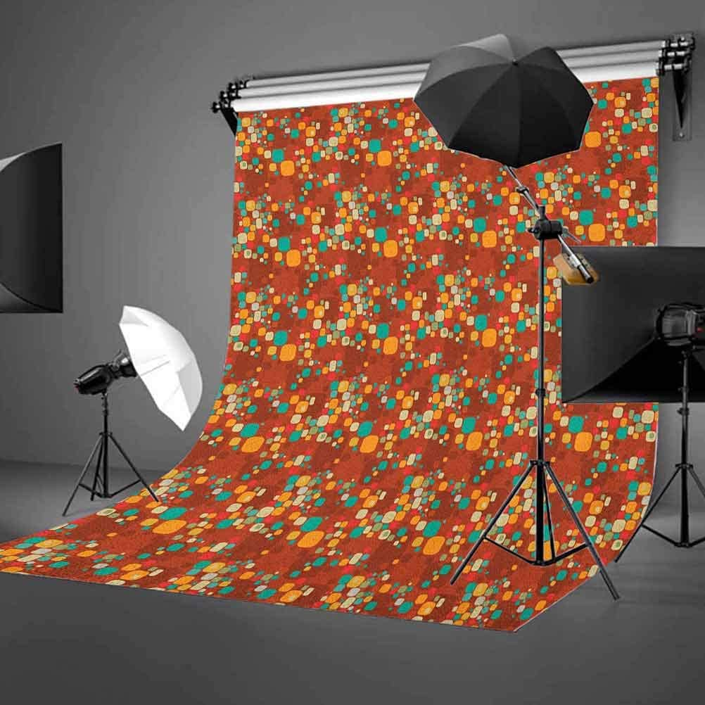 8x12 FT Groovy Vinyl Photography Backdrop,Big Heart with Background Retro Romance Will Change The World Illustration Background for Baby Birthday Party Wedding Studio Props Photography