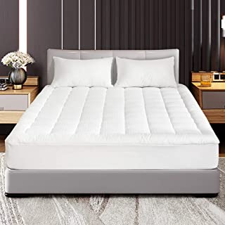 Abakan Twin Mattress Pad Cover Pillow Top Down Alternative Fill Cotton Top Cooling Breathable Soft Mattress Topper Fitted 8
