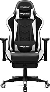 GTRACING Gaming Chair with Footrest, Massage, Bluetooth Speakers Ergonomic High Back Music Video Game Chair Heavy Duty Com...
