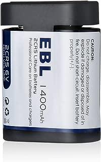 EBL 2CR5 6 Volt Photo Lithium Battery with PTC Protection (245, DL245, EL2CR5, Kl2CR5)