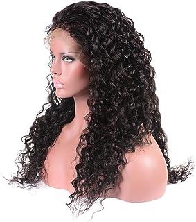 مجموعة شعر مستعار مجعد صغير باللون الأسود مع دانتيل رائع طبيعي وواقعي للسيدات من إليغي بمقاس 66 سم