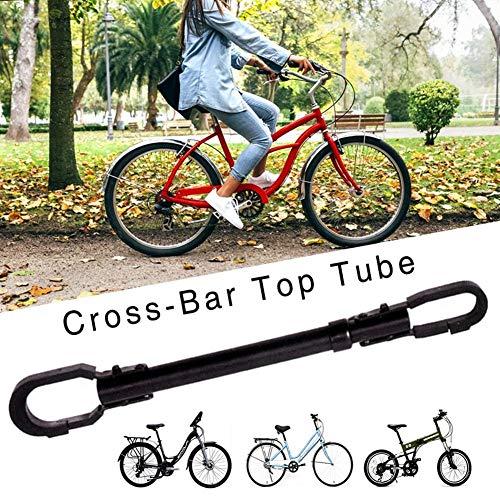 Fietsframeadapter, verstelbare bar & frame crossbar adapter, top tube adapter, zwart