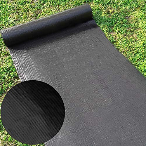Happybuy Landscape Fabric 6ft x 300ft - Geotextile Fabric Heavy Duty 1.5oz - Ground Cover Woven for Commercial Greenhouse, Yard, Garden Barrier Cloth Blocker Mat