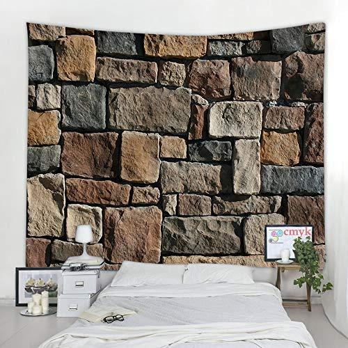 KHKJ Backsteinmauerteppich hängen Mandala böhmischen psychedelischen Hippie-Wandteppich Hauptdekoration Handtuch Wandteppich A2 200x180cm