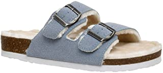 Women's Lane Cozy Cork Footbed Sandal with Faux Fur Lining and +Comfort