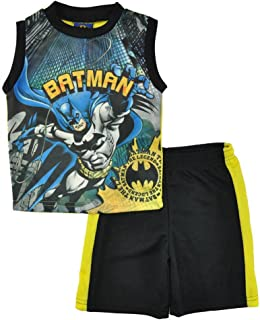 KWC Batman Toddler Boys Athletic Jersey Top and Shorts Set Size 7
