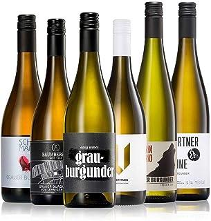 GEILE WEINE Weinpaket GRAUBURGUNDER 6 x 0,75 Probierpaket mit Grauburgunder Weißwein und Roséwein aus Deutschland