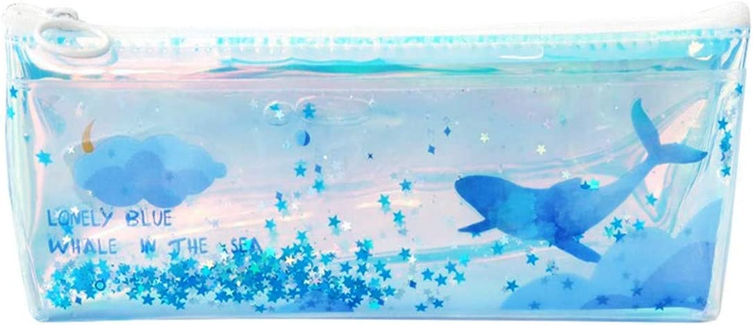 Funny live Blue Fort Worth Mall Ocean Whale Selling rankings Drift Sequins Bags with Pencil