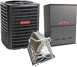 Goodman 2 Ton 14 SEER Air Conditioner GSX140241, Coil CAUF3636A6, 40,000 BTU 80% AFUE Downflow Gas Furnace GDH80403AX