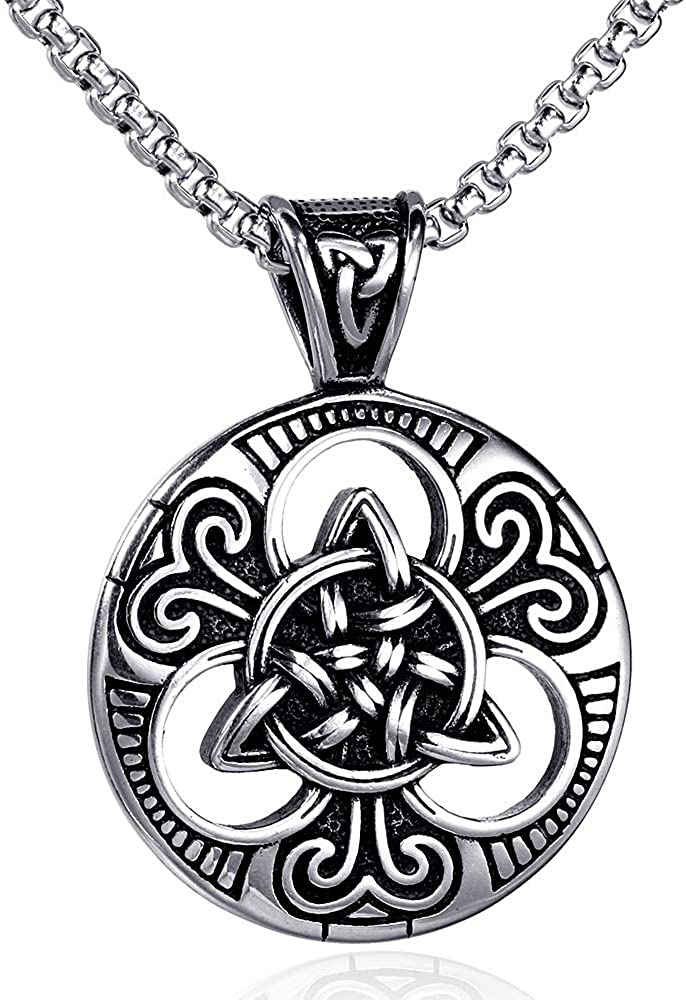 Jude Jewelers Stainless Steel Retro Vintage Celtic Knot Cocktail Party Biker Pendant Necklace