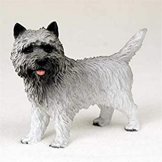 Ky & Co YesKela Cairn Terrier Figurine Hand Painted Collectible Statue Gray
