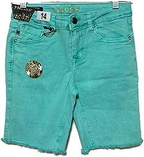 VIGOSS Girls Heart Knit Shorts Adjustable Waistband