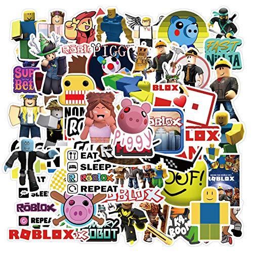 Fancico Videospiel Roblox Aufkleber | 50 PCS Vinyl Aufkleber für Laptop, Stoßstange, Skateboard, Wasserflaschen, Computer, Telefon, Kinder Teens für Aufkleber Wasserdicht
