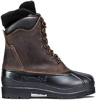boot bot Stiefel botte TREEMME stivale invernale dopo sci in pelle ingrassata suola HIKER in gomma chiodabile scarpetta in...