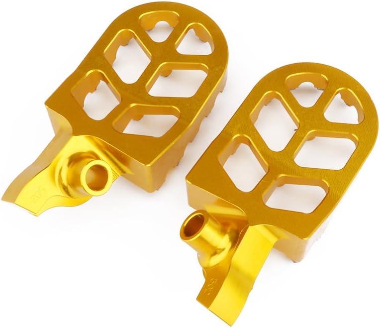 YSMOTO Pedales de reposapi/és de Aluminio CNC para Suzuki RMZ250 RMZ 250 2007-2009 07 08 09 07-09 RMZ 450 RMZ450 2005-2007 05-07 Motocross Dirt Bike