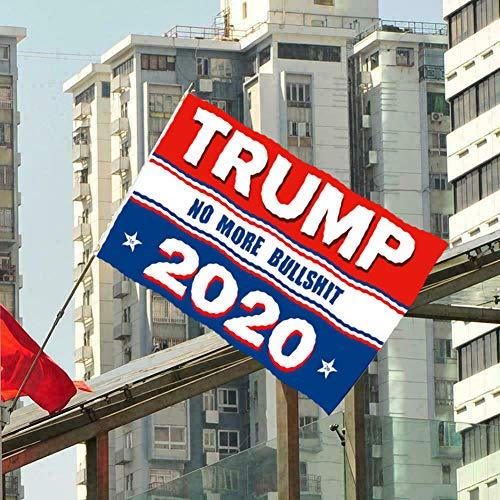 Trump No More Bullshit, 90 x 150 cm 2020 Präsidenten-Wahl-Flagge – Trump No More Bullshit, mit 2 Metallknopflöchern zum Aufhängen, doppelt Polyester genäht und verstärkt