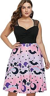 036b0068805 Falda vintage Vestido de Halloween Premium, Vestido sin mangas de encaje  retro vintage con estampado