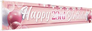 LINGPAR Happy Birthday Banner Balloon Pink (23)