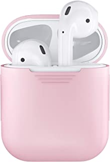 CoWalkers Soft Silicone Case for Apple Airpods Shockproof Cover for Apple AirPods Earphone Cases Ultra Thin Air Pods Protector Case (Pink)