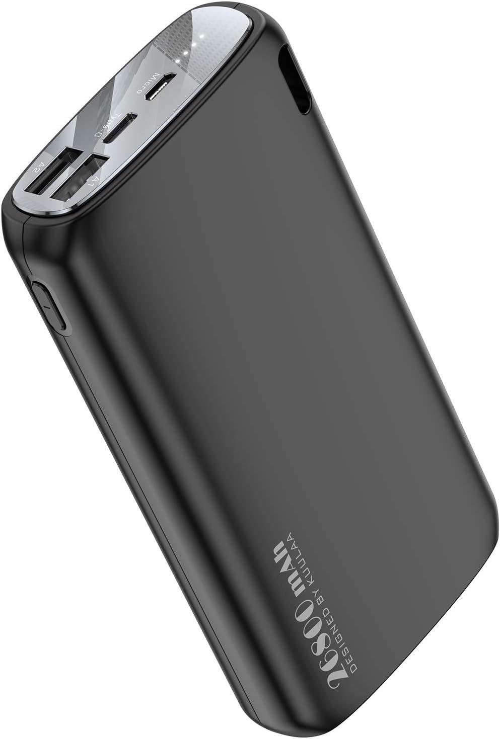 Portable Charger 26800mAh, KUULAA Power Bank Ultra-High Black