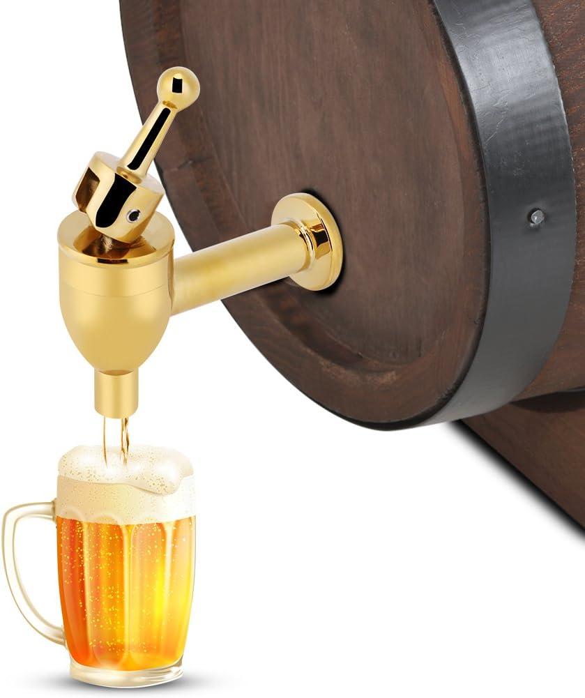 bebida cerveza barril dispensador de agua bebida espita de repuesto para vino Bronce 18mm Dispensador de grifo de cobre