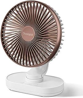 OCOOPA Ventilateur de Bureau, Auto Oscillant Ventilateur à Batterie Silencieux de 6,5 Pouces, 4 Vitesses Refroidissement d...