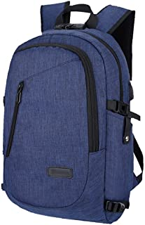 LeTabow Laptop Backpack with USB Charging Port and Lock & Headphone Compartment, Fits 12-16 inch laptop and Notebook, Wate...