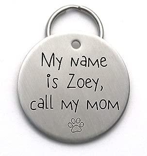 Call My Mom Dog Tag - Unique Metal Pet ID