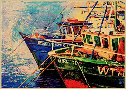 H/E Cartel De Arte De Paisaje De Jardín Mediterráneo Abstracto Pintura Al Óleo Decoración De Café En Casa Mural Sin Marco50X60Cm G1238