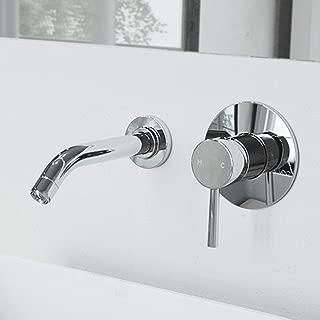 VIGO VG05001CH Olus Wall Mount Bathroom Faucet Lavatory Faucet with Unique Plated 7 Layer Chrome Finish