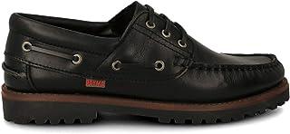 PAYMA - Chaussures Bateau Sport pour Homme Femme Enfant Garçon Unisexe en Cuir. Grandes Tailles. Fermeture Lacets et Velcr...