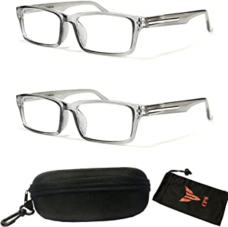 182fda826a29 Designer Square Spring Hinge Reading Glasses Optical Frame Simple Women Men  Reader